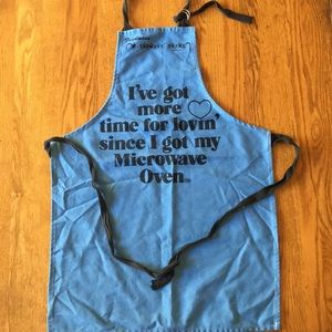VINTAGE 80's Made in USA Microwave Oven Apron